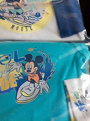 New pack of 2 baby Mickey Mouse pyjamas. age 3-6 months