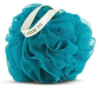The Body Shop ARGAN Blue Bath Shower Lily Polisher Wash Scrunchie Puff Sponge