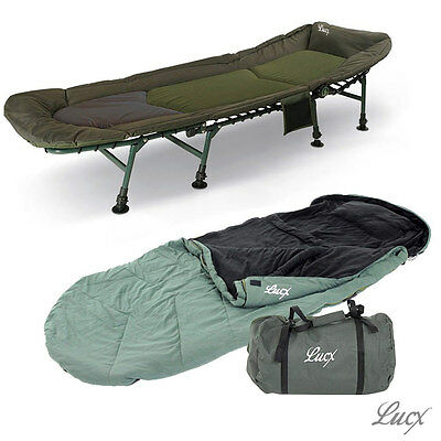 Lucx 8 Legs Bedchair Incl. Sleeping Bag 30 Degrees) / 8 Legs Carp Bed Stable