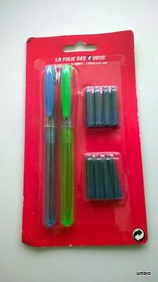 2 Stylos Plume  Neuf 8 Cartouches D'encre
