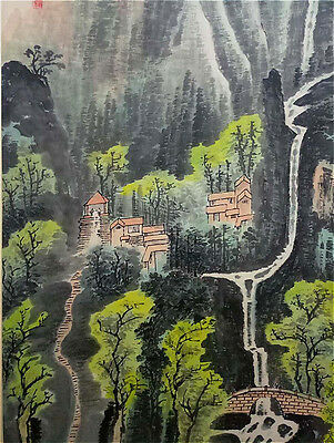 Excellent Chinese 100% Hand Painting & Scroll Landscape By Li Keran 李可染 FM608F