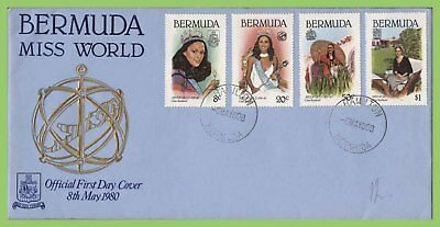 Bermuda 1980 Miss World set on First Day Cover