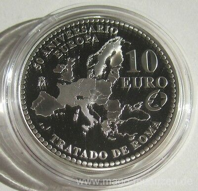 Spain 10 Euro 2007 50 Years Treaty of Rome Silver