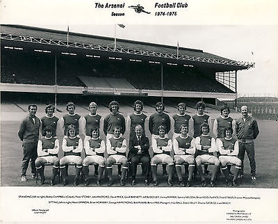 Arsenal Official Team Group photo 1974/5 issued by Kenneth Prayer Photographers
