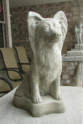 Concrete Papillon Dog Statue Or Use As A Monument