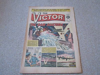 THE VICTOR COMIC No 91- Nov 17th 1962- 'The Dam Busters' Good/Fair Condition