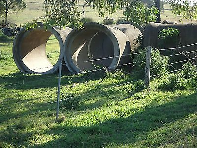 LARGE STORM WATER CEMENT PIPES (8 Available)