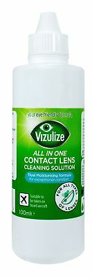Vizulize All In One Contact Lens Solution Travel Pack 100ml NEW