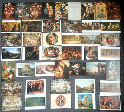 Lot Of 43 Postcards Of Paintings By Renaissance Painters
