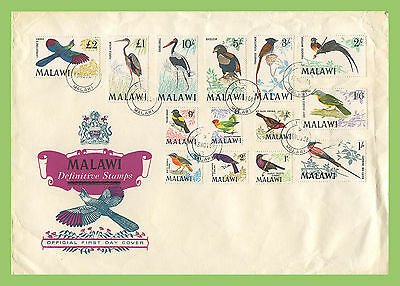 Malawi 1968 Birds definitive set to £2 on First Day Cover