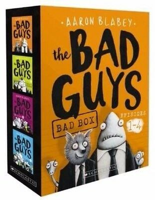 The Bad Guys Bad Box: Episodes 1 - 4 by Aaron Blabey Paperback Book