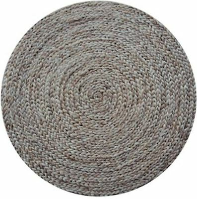 RUG Jute PLAIN Braided Natural ROUND Rug Large Size 200cm Stunning QUALITY