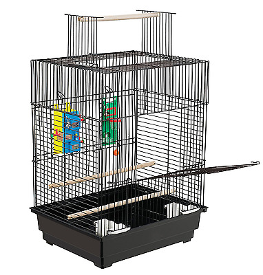 Parakeet Bird Cage Large Parrot Stand Feeder House Vintage Perch Play Pet