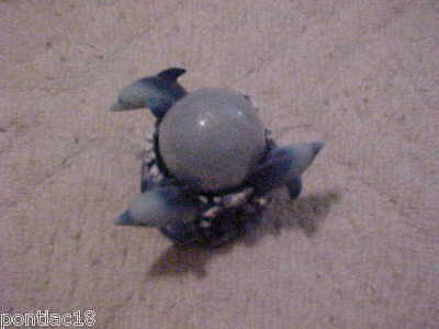 Dolphin Candle Holder witn unused sealed candle
