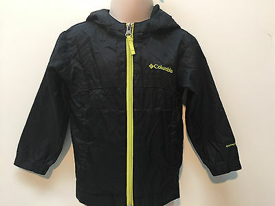Columbia Toddler Boy Zip-Up Athletic Jacket Size 2T Black Light