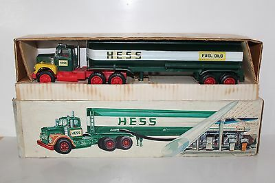 Super Rare 1969 'Woodbridge' Hess Toy Tanker Truck with Original Box and Inserts