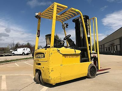 2008 Hyster 4000 Pound Budget Forklift-WE WILL SHIP-Triple-Sideshift-Lifts 15 ft