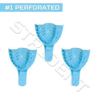 Dental Impression Tray Perforated Autoclavable #1 Large Upper (12 pc) disposable