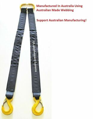 Car Carrying Tow Strap 2 leg 1000mm Long SWL 2000KG Tilt Tray Towing Tow Truck