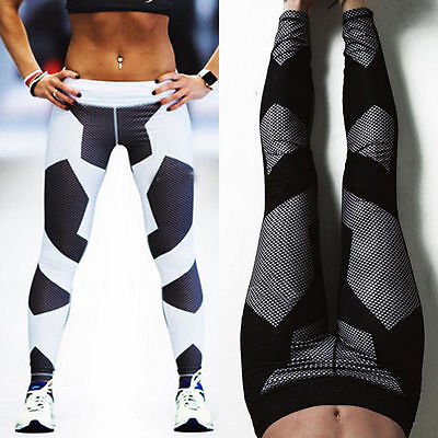 Women High Waist Yoga Fitness Leggings Running Workout Gym Sports Pants Trousers