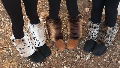 CovFurs Faux Fur Boot Shoe Covers Fashion Leg Warmers Winter Ugg Boots