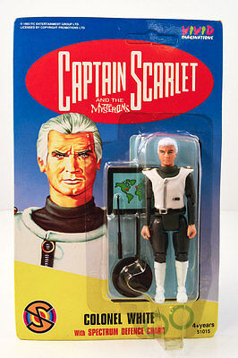 "COLONEL WHITE *Captain Scarlet&Mysterons 4"" Action Figure/Gerry Anderson MOC/NEW"