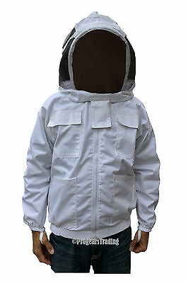 Professional Quality Beekeeping Bee Jacket Leather Gloves Bundle - Small