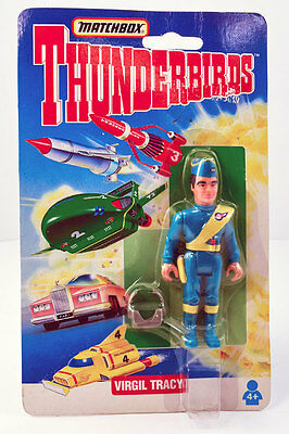 """VIRGIL TRACY *Matchbox THUNDERBIRDS 4"""" Action Figure/Gerry Anderson 1994 MOC/NEW"""