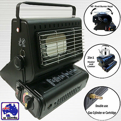 Butane Heater Stove Portable Cooker Dual Gas Supply Camping Portable OBBQ59805