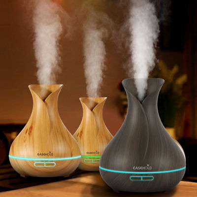 EaseHold Humidifier Ultrasonic Air Aromatherapy Essential Oil Diffuser 400ml【US】