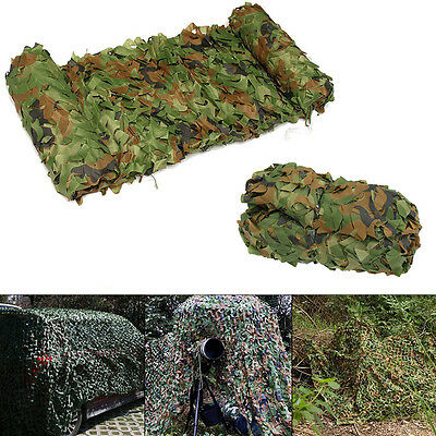 Hunting Camping Military Camouflage Net Woodlands Leaves Camo netting Cover 3*4m