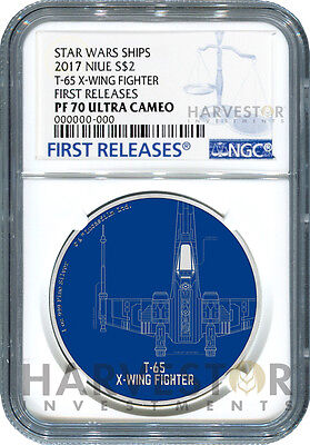2017 Star Wars Ships: T-65 X-Wing Fighter - Ngc Pf70 First Releases W/ogp - 3Rd