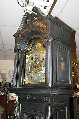 COWELL & HUBBARD Co. Cleveland, OH Ebonized with goldleaf 8' grandfather clock