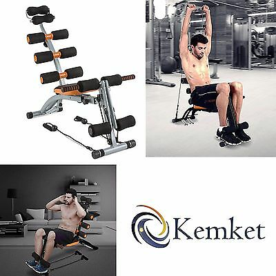 Kemket Multi functional 6 in 1Six Pack Care Exercise Bench Abdominal