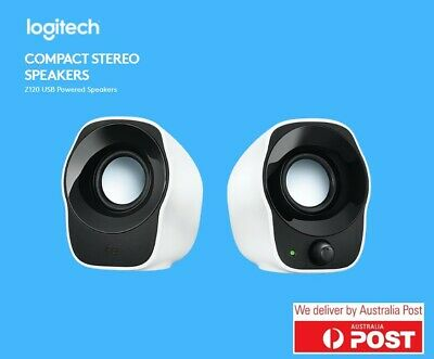 Logitech Z120 Stereo Speakers Compact Mini USB High Quality 3.5mm PC Fast Ship