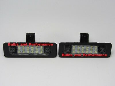 2010 2011 2012 2013 2014 Ford Mustang 6000K White LED License Plate Lights Lamps