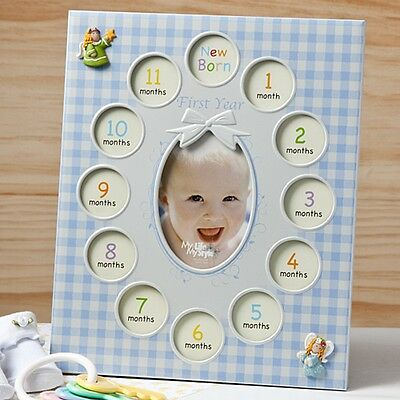 Baby Boy's First Year collage frames - Baby Shower Party / FC-12523