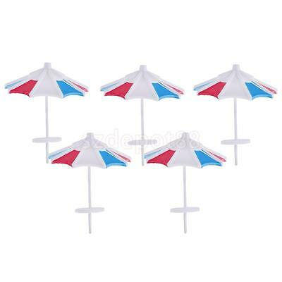 5x Sun Umbrella Parasol Model Train Railway Scenery Building Props 1/100 Toy