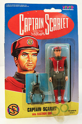 "CAPTAIN SCARLET & Mysterons 4"" Action Figure/Gerry Anderson 1993 MOC/NEW"