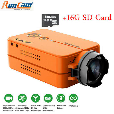 RunCam 2 Ultra HD 1080P FPV Camera 120° WiFi link Camcorder For Racing Drone