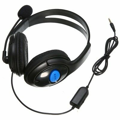 3.5mm Stereo Gaming Headset Headphones + Microphone for Sony Playstation4 PS4 PC