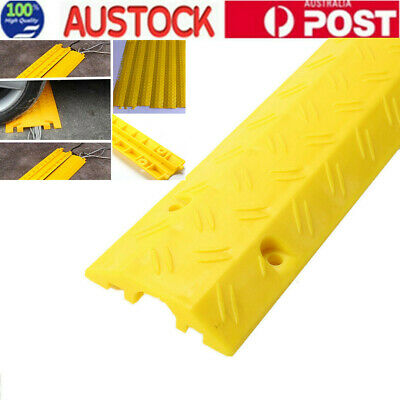 1M PVC Rubber Duct Floor Wire Cable Cord Protector Cover for Home Office AU