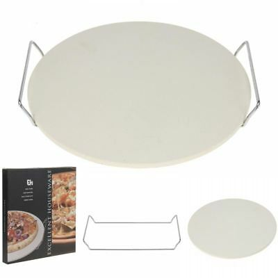 Pizza Baking Ceramic Stone With Rack Oven To Table Serving Traditional 33cm Tray
