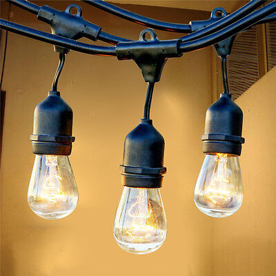 Outdoor Weatherproof Vintage String Lights Patio Lights W/ Vintage Edison Bulbs