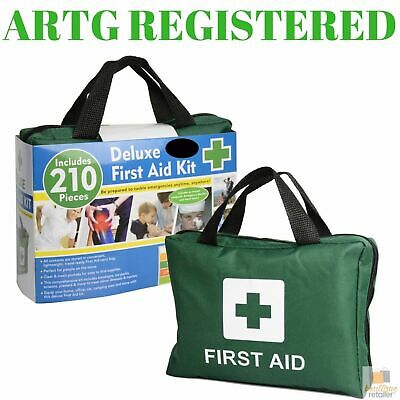 210PCS DELUXE FIRST AID KIT Emergency Medical Travel Set Workplace Family Safety