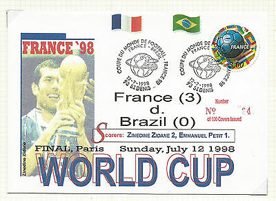 World Cup Soccer 1998 France stamps, large Lot A