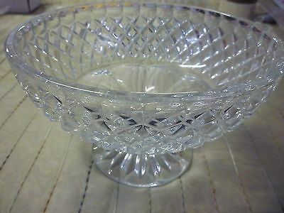 "CRYSTAL BOWL High Quality Lead Cut No Cracks or Chips 5"" 13cm High x 8""  20.5cm"