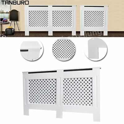 UK Heating Covers MDF Cross Radiator Cover White Painted Cabinet Grill Furniture