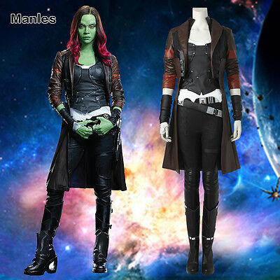 Guardians of the Galaxy 2 Halloween Cosplay Gamora Costume Fancy Dress Outfits
