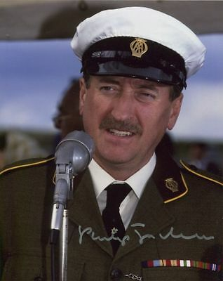 Philip Jackson In Person Signed Photo - The Last Salute - AG91